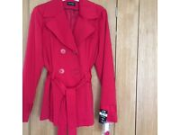 BNWT RED Size 10 Coat