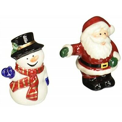 Cosmos Gifts 56528 Santa and Snowman Salt and Pepper Set, 3-3/8-Inch