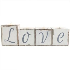 Love block tealight holder New still in box