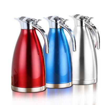 Thermoskanne Isolierkanne Thermosflasche 2.0/1.5L Thermos Kaffee Kanne Edelstahl ()