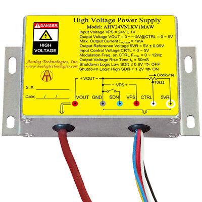 Us Ship High Voltage Power Supply Negative Voltage Output Ahv24vn1kv1maw