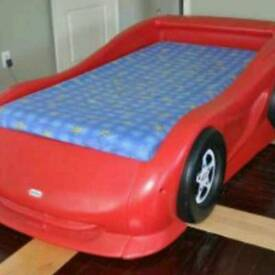 Little tikes red car bed