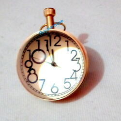 Unique Style Desk Top Brass Clock or Globe Collectible Watch Office Gift Item