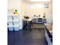 Spacious Studio 6 coming available. Suitable for artists, photographers, designers, office