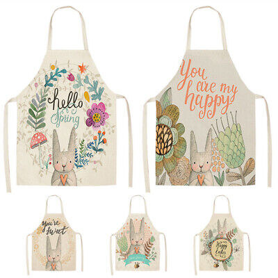 Kitchen Aprons for Women Kids Sleeveless Cotton Linen Cooking Cleaning 53*65cm Cooking Aprons For Kids