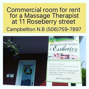 Commercial space available for rent for a Massage Therapist