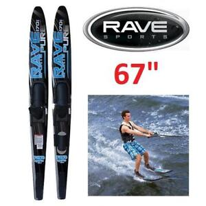"""NEW* RAVE SPORTS WATER SKIS 188185823 PURE ADULT COMBO 67"""""""
