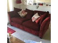 Comfortable dark red sofa(s) for sale