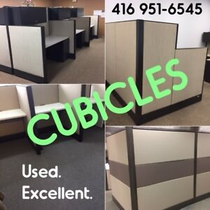 USED OFFICE CUBICLES, SUPPLIED/DELIVERED/INSTALLED, EXC. COND.