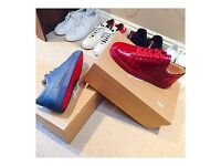 Brand New (Unworn) Christian Louboutin Junior Patent Lows - Carmine
