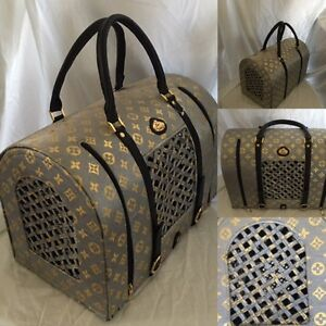 Louis Vuitton-Inspired Dog/Cat carrier by La Dosha West Island Greater Montréal image 1