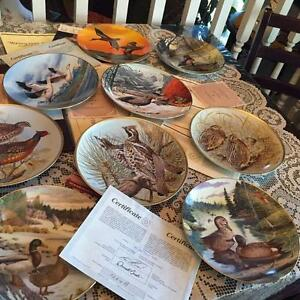 COLLECTIBLE PLATES WITH BIRDS