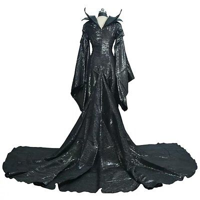 US STOCK! Halloween Maleficent Angelina Jolie Cosplay Outfit Costume Fancy