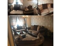 Preloved DFS sofas - excellent condition. Similar range to the Waltz - warm tones and gentle curves