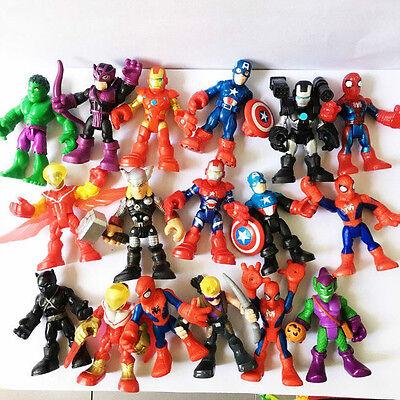 Playskool Heroes - Random Lot 10pcs Marvel Super Hero Adventures Figure Boy Toy - Boy Super Hero