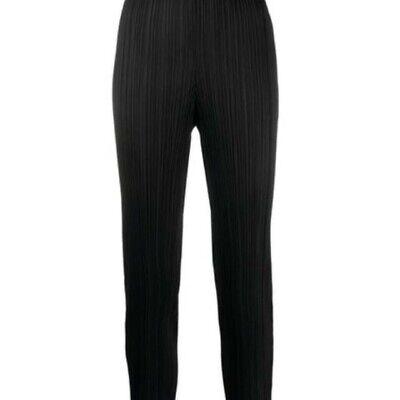 Issey Miyake pleats please trousers size M, black, excellent condition, preowned