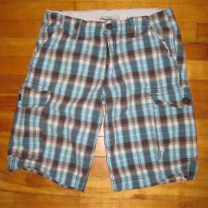 Bluenotes plaid mens shorts