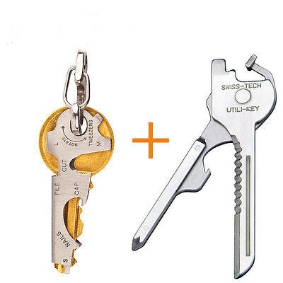 9 in 1 EDC Tool Keychain Key Multi Tool Survival Best Pocket Multitool Set