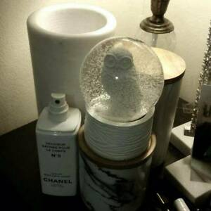 White Snow Globe With Owl Insert Lava Lamp Paper Weight Chatswood Willoughby Area Preview
