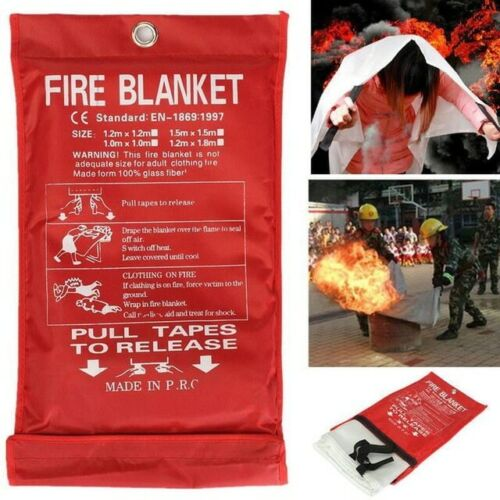 Emergency Fire Blanket Quick Release In Case For Home Office Car 1mx1mx0.3mm