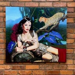 LARGE Original Delilah Jungle Leopard painting by JANE IANNIELLO