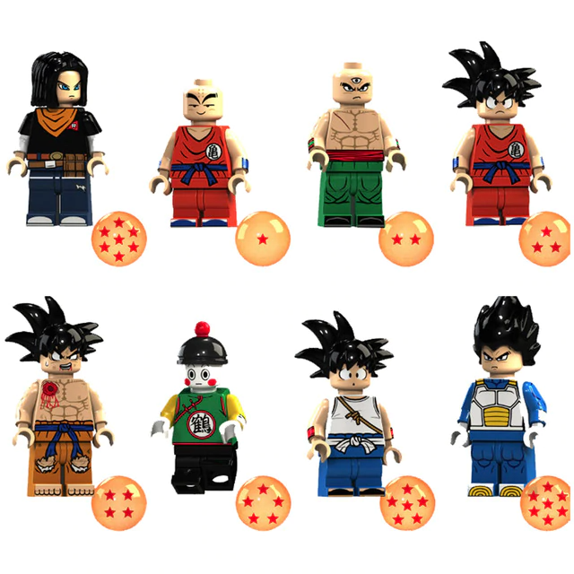 Count:8pcs-9:32pcs Dragon Ball Z Action Figure Super Goku Building Blocks For Lego Toy Heroes