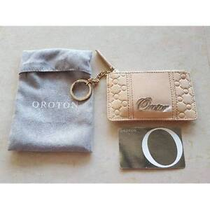 New Oroton Roche Zip Coin Leather Purse Key Ring Bag Sandstone Claremont Nedlands Area Preview