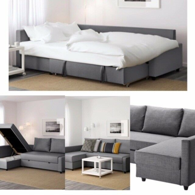 Corner Sofa Bed Under 300: Ikea Corner Sofa-bed With Storage FRIHETEN Skiftebo Dark