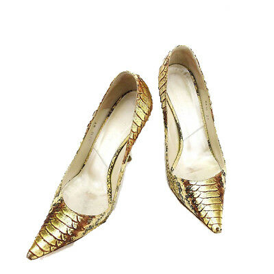 Dior Pumps Python Ladies Authentic Used L1578