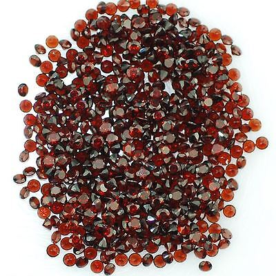 10 PIECES OF 2mm ROUND-FACET DEEP-RED NATURAL MOZAMBIQUE GARNET GEMSTONES