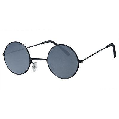 Unisex Schwarz Rahmen mit Farbe Verspiegelte Gläser John Lennon Typ