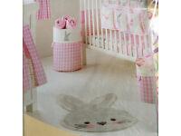 Nursery baby girls pinknappy stacker storage snuggle bunny rug bundle BRAND NEW