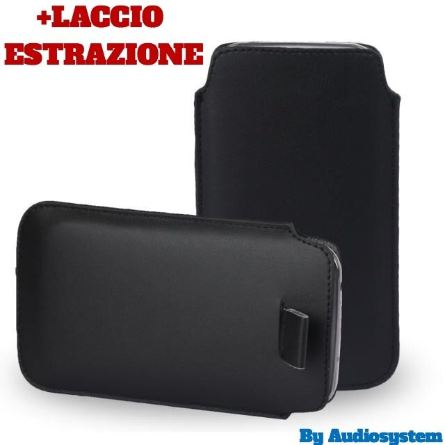 CUSTODIA COVER per SAMSUNG GALAXY NOTE EDGE SM-N915 SACCHETTO NERO+FIBBIA CALZA