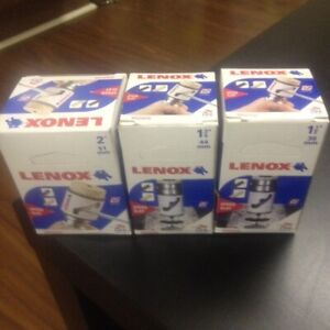 Lenox hole saw, saw blades and drill bits for sale