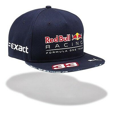 2017 OFFICIAL F1 Red Bull Racing Max VERSTAPPEN #33 Flat Brim Cap Hat MENS – NEW