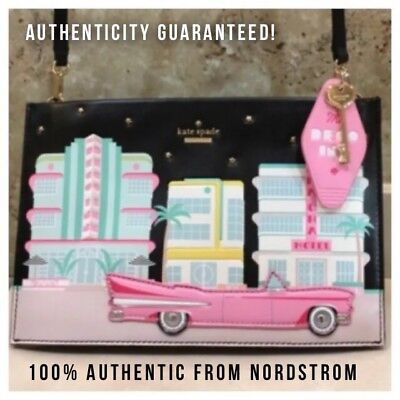 NWT Kate Spade SIMA Checking In Caddy Car Hotel Key Clutch Bag Purse Crossbody!