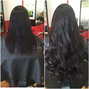 LINA'S LOCKS HAIR EXTENSIONS Fusion | Tape | Microlinks | Nano London Ontario image 5