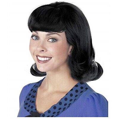 Peanuts Lucy Wig (60s Black Flip Jackie Kennedy Costume Wig 50s Wig for Women Lucy)