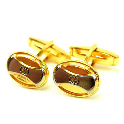 GUCCI Cufflink Double G unisex Authentic Used Y5563