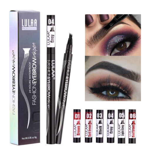 Tattoo Brow Microblade Pen Four Eyebrow Tattoo Pen Waterproof Fork Tip Sketch US Eyebrow Liner & Definition