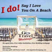 """Say """"I do"""" on a beach. Destination Wedding Travel Agent"""