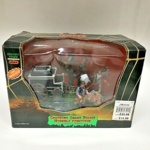 Lemax Spooky Town Collection Gruesome Grave Digger 2005 New