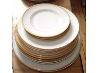 Variety of Gold Rimmed Plates
