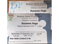 Suzanne Vega at Brighton Dome, 27 September. 2 great seats!