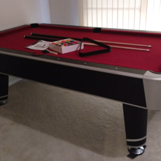Pool Table plus Table Tennis Top 8ft by 4ft