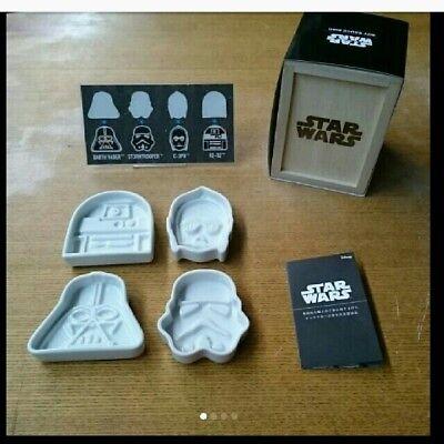 Star Wars Soy Sauce Dish Set Darth Vader, Stormtrooper, C-3PO, R2-D2 plates New - Sauce Dish Set
