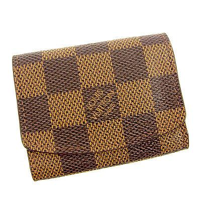 Auth Louis Vuitton Cufflinks case Damier Women