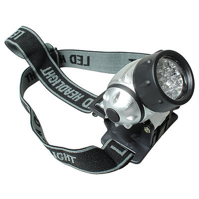 19 LED Headlamp with Adjustable Strap & Light Ultra Super Bright Water Resistant
