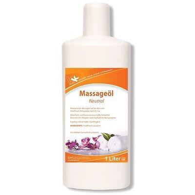 KK Massageöl Neutral 1 Liter Öl Massage Entspannung Creme Lotion Physiotherapie