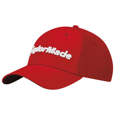 664692fb TAYLORMADE GOLF PERFORMANCE CAGE FITTED HAT MESH CAP SIZE: L/XL RED NEW!!  19045